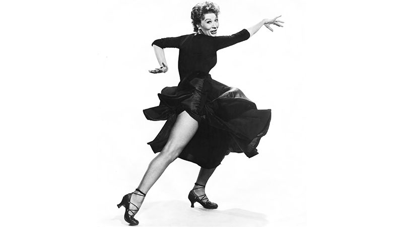 Gwen Verdon in a black dress, dancing