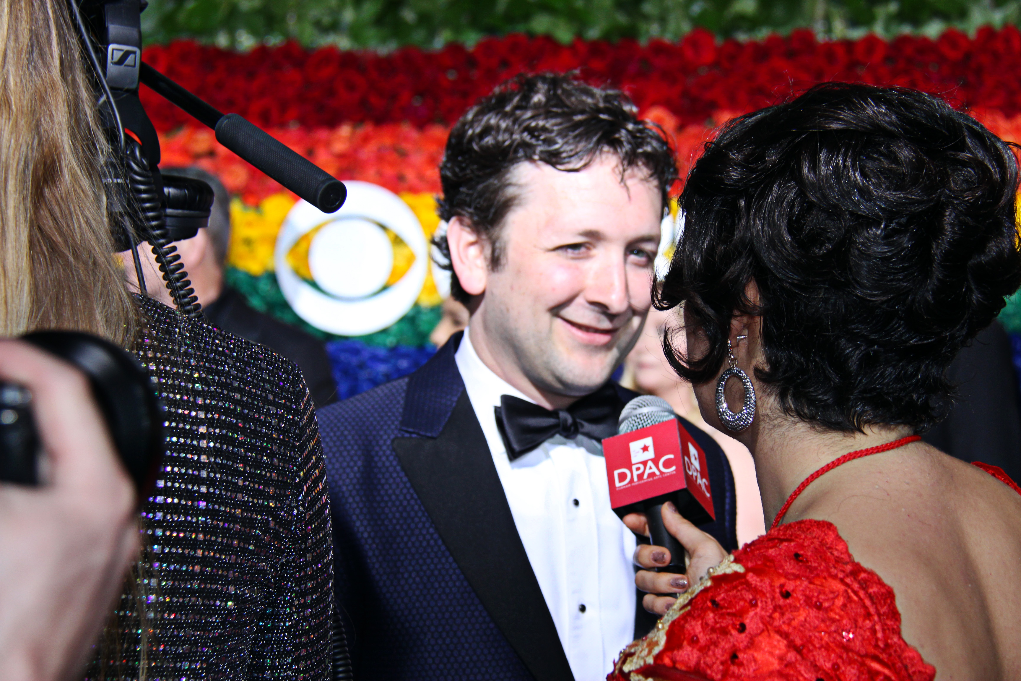 Bradley King from <i>Hadestown</i> on the red carpet. Photo by Broadway Direct.