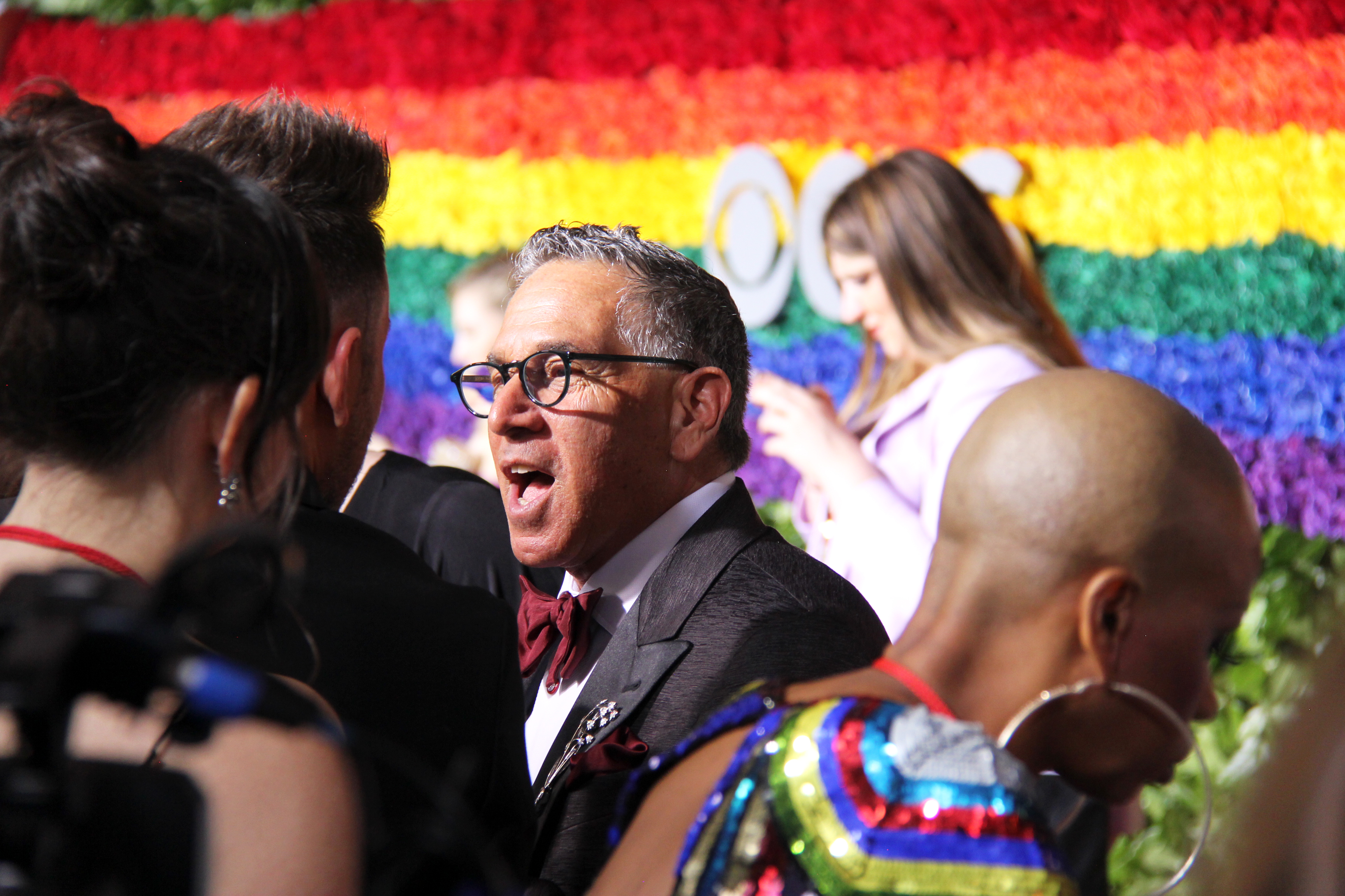 Robert Horn from <i>Tootsie</i> on the Tony Awards red carpet. Photo by Broadway Direct.