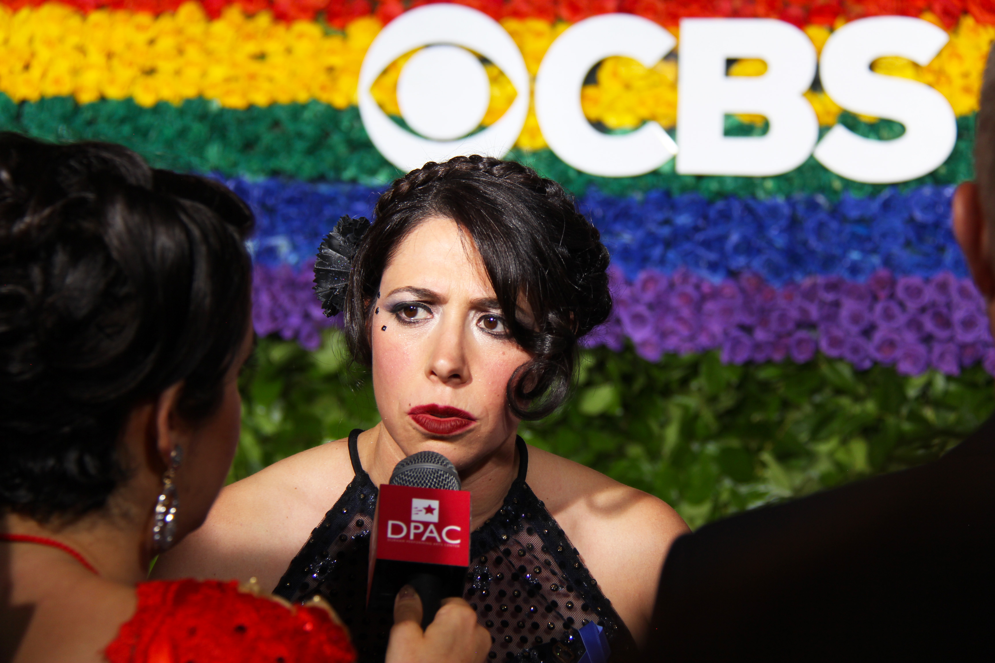 Rachel Chavkin from <i>Hadestown</i> on the red carpet. Photo by Broadway Direct.