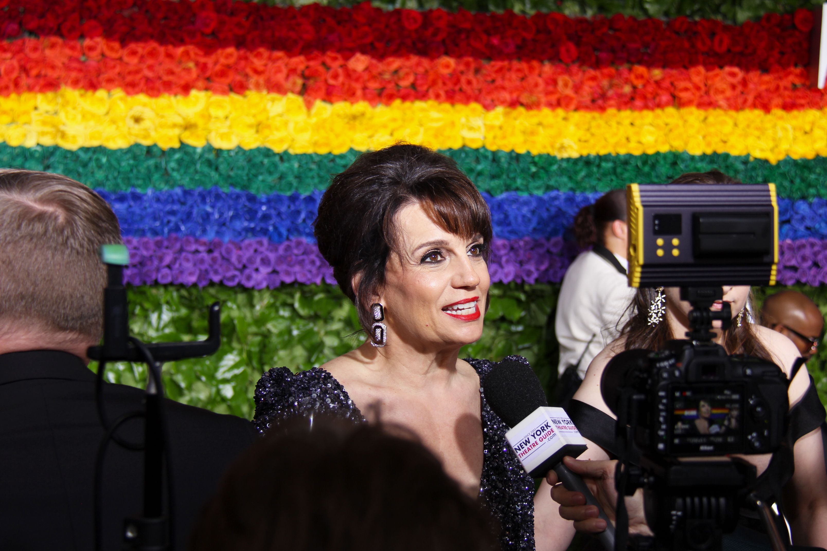 Beth Leavel from <i>The Prom</i> on the Tony Awards red carpet. Photo by Broadway Direct.