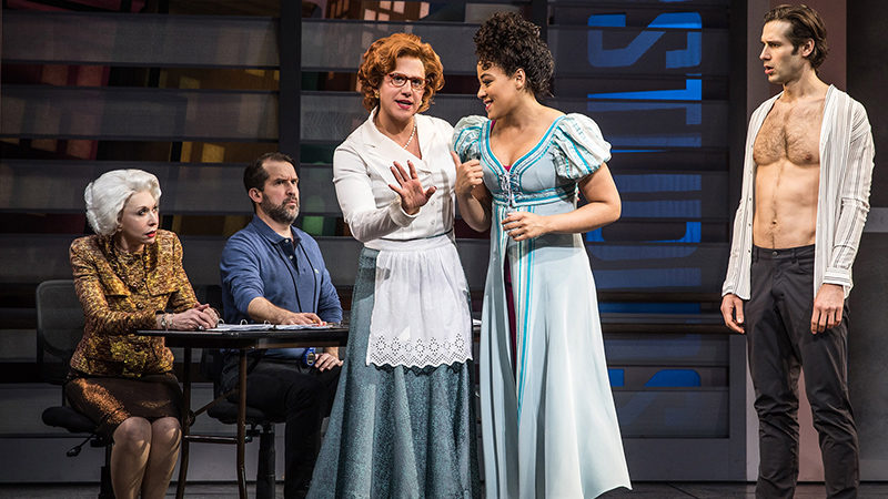 Santino Fontana and Lilli Cooper in the Broadway production of Tootsie the Comedy Musical