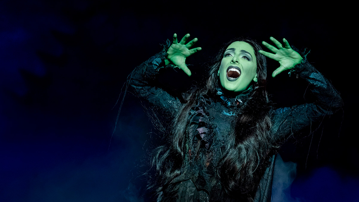 Hannah Corneau in Wicked. Photo by Joan Marcus.