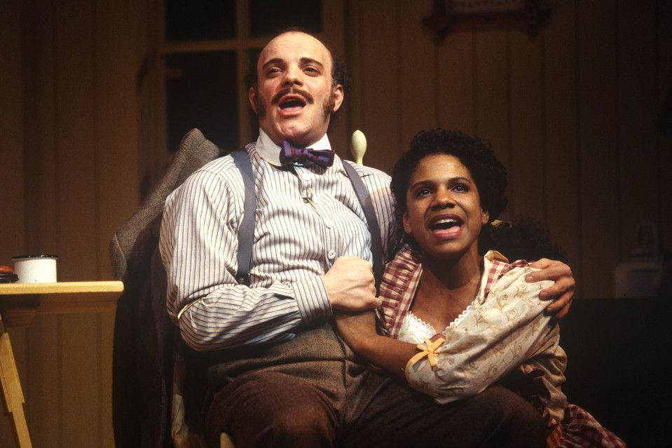 Eddie Korbich and Audra McDonald in Carousel.