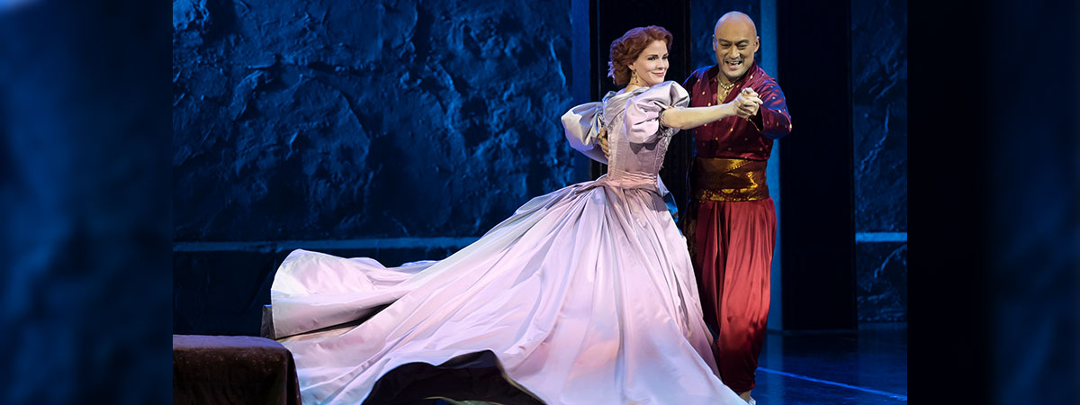 Kelli O'Hara and Ken Watanabe in The King and I, airing on PBS Great Performances on November 8