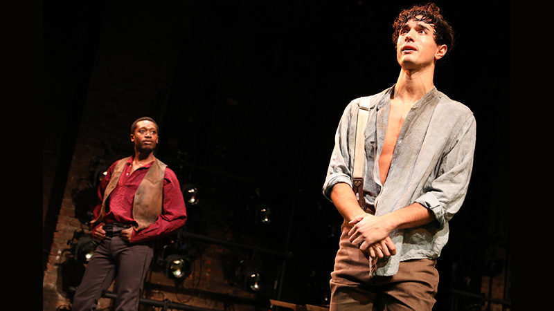The off-Broadway cast of Slave Play. Photo by Joan Marcus.