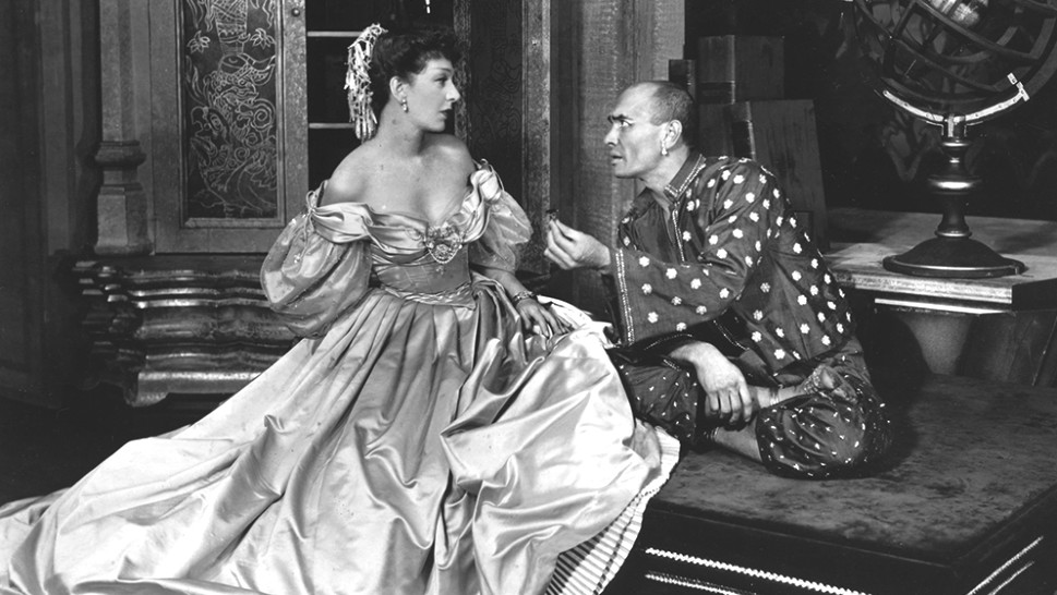 Gertrude Lawrence and Yul Brynner in the original Broadway production of The King and I.