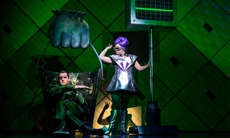 Wesley Taylor and Stephanie Hsu in <i>SpongeBob SquarePants: The Broadway Musical</i>. Photo by Joan Marcus.