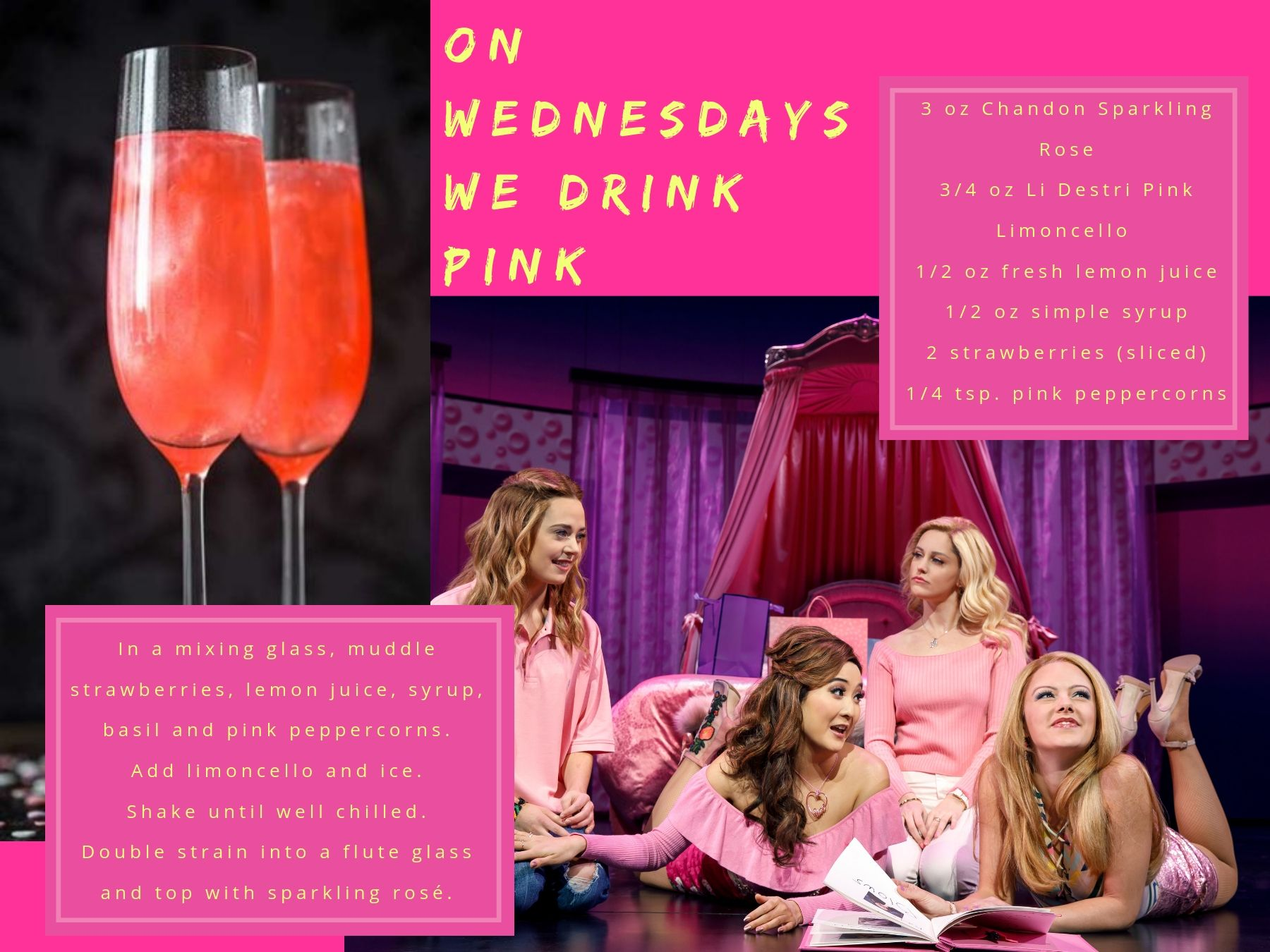 """On Wednesdays We Drink Pink"" inspired by Mean Girls."