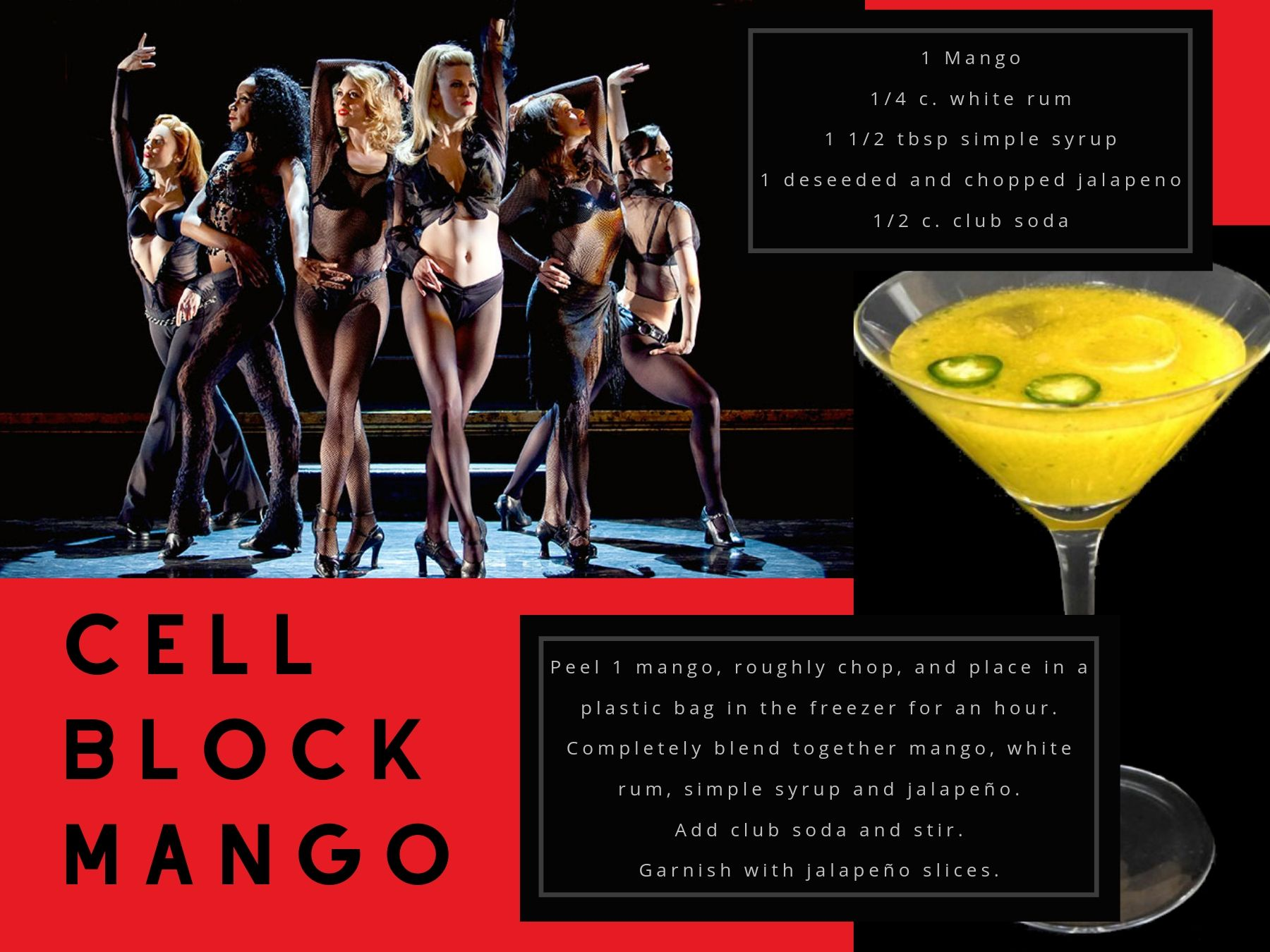 """Cell Block Mango"" inspired by Chicago."
