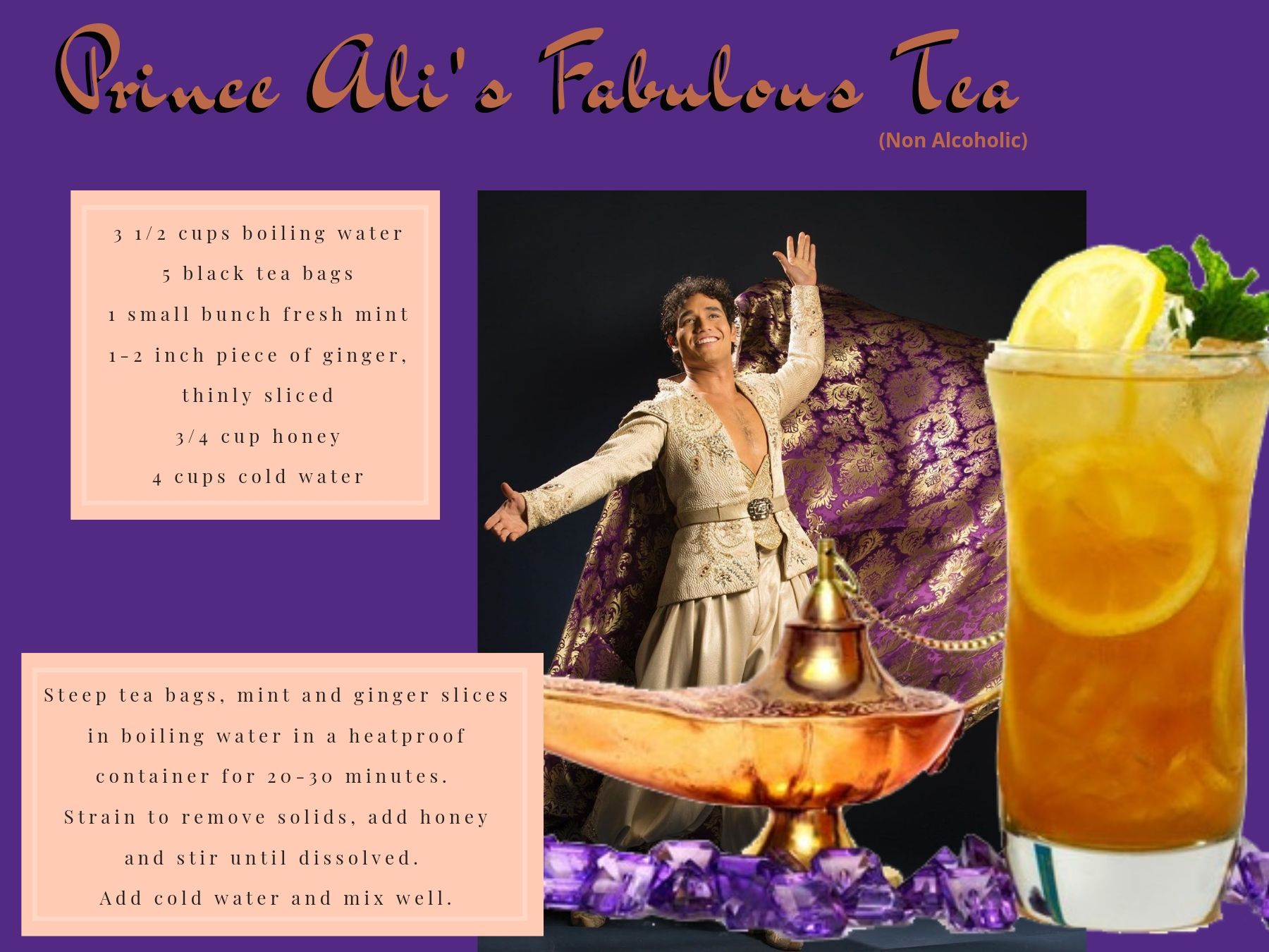 """Prince Ali's Fabulous Tea"" inspired by Aladdin."