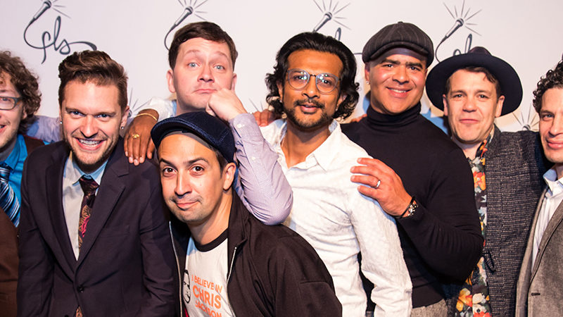 Lin-Manuel Miranda and the creators of Freestyle Love Supreme