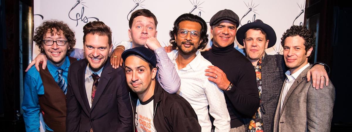 Lin-Manuel Miranda and the creators of Freestyle Love Supreme