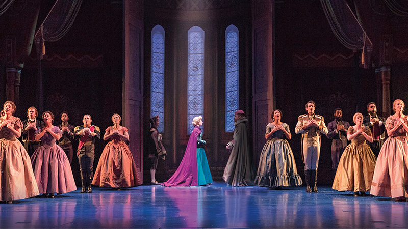 The cast of Frozen the Musical