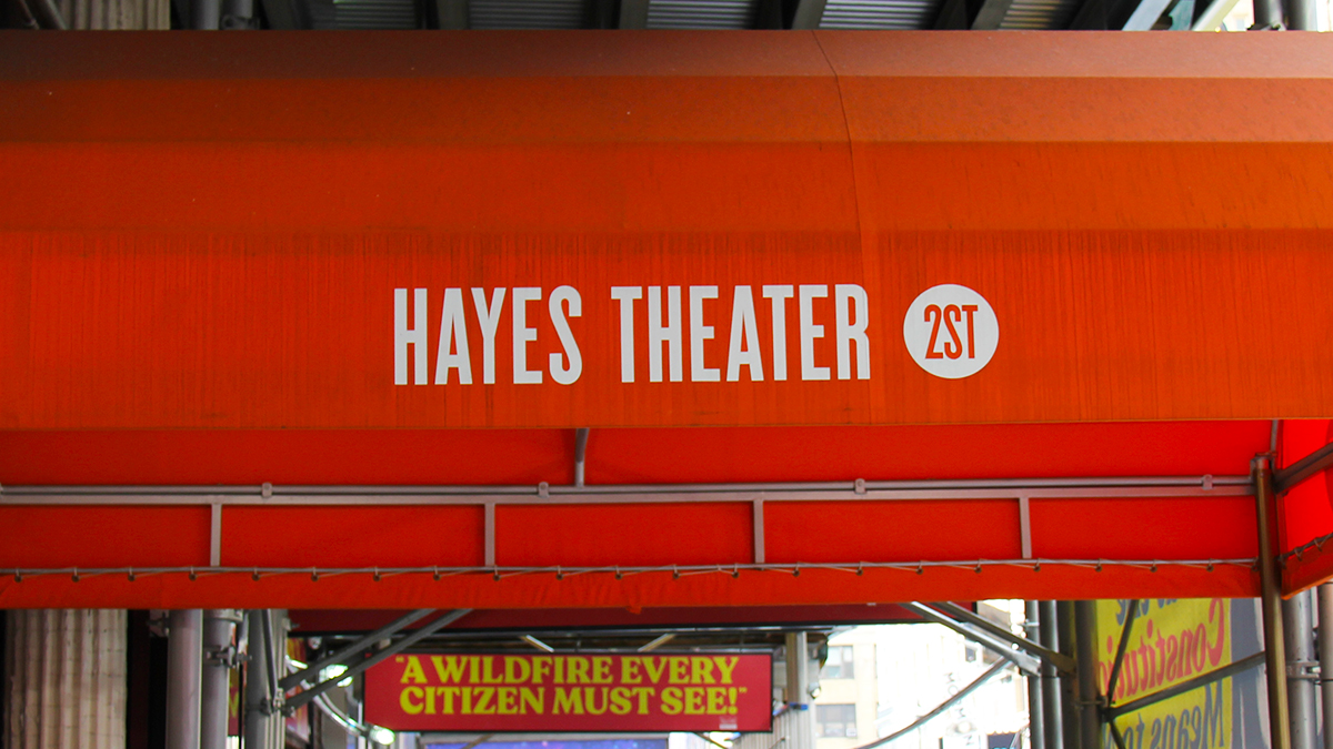 Hayes Theater Marquee
