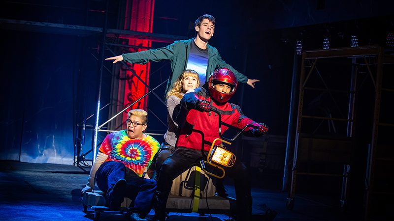 The Broadway cast of The Lightning Thief
