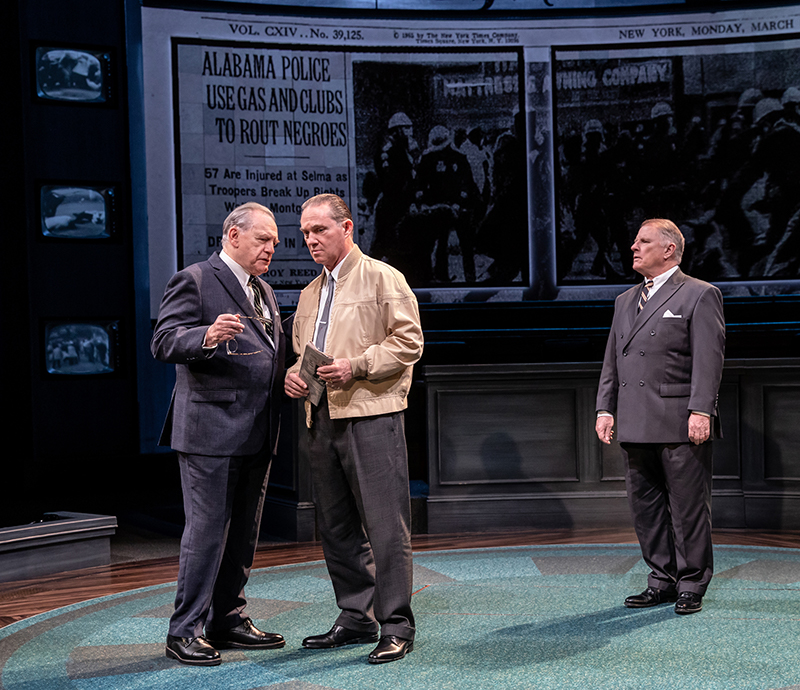 Brian Cox, Richard Thomas, and Gordon Clapp in <i>The Great Society</i>. Photo by Evan Zimmerman.