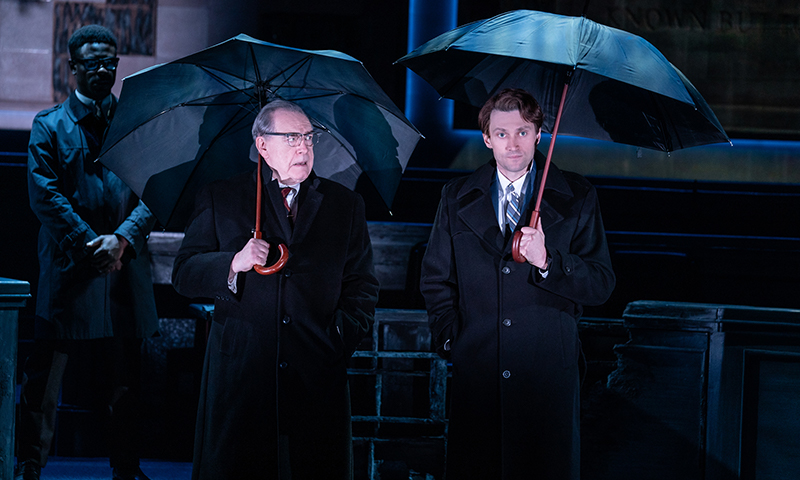 Marchant Davis, Brian Cox, and Bryce Pinkham in <i>The Great Society</i>. Photo by Evan Zimmerman.