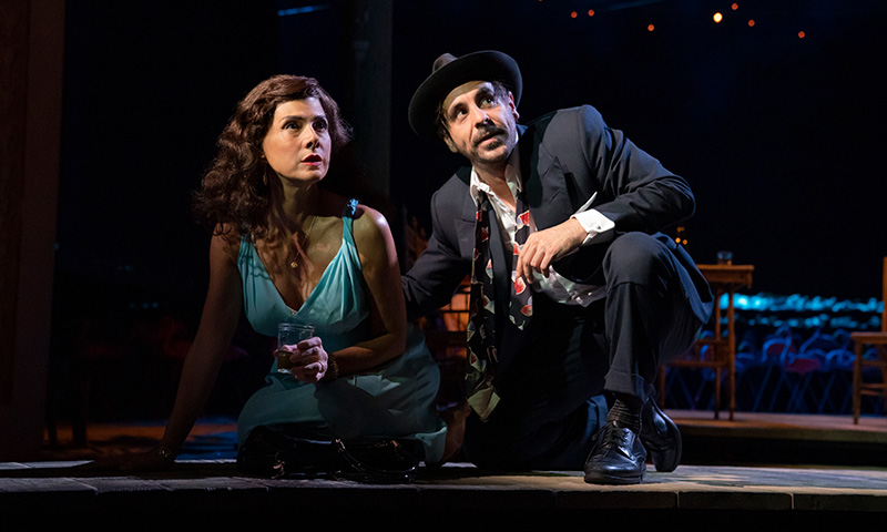 Marisa Tomei and Emun Elliott in <i>The Rose Tattoo</i>. Photo by Joan Marcus.