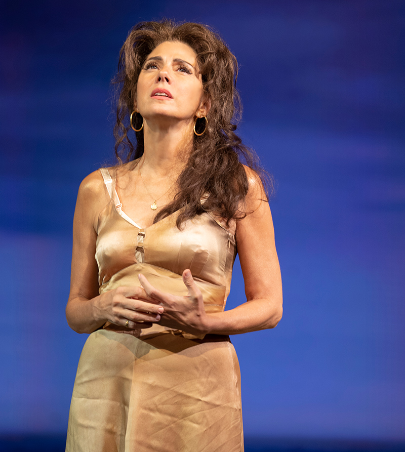 Marisa Tomei in <i>The Rose Tattoo</i>. Photo by Joan Marcus.