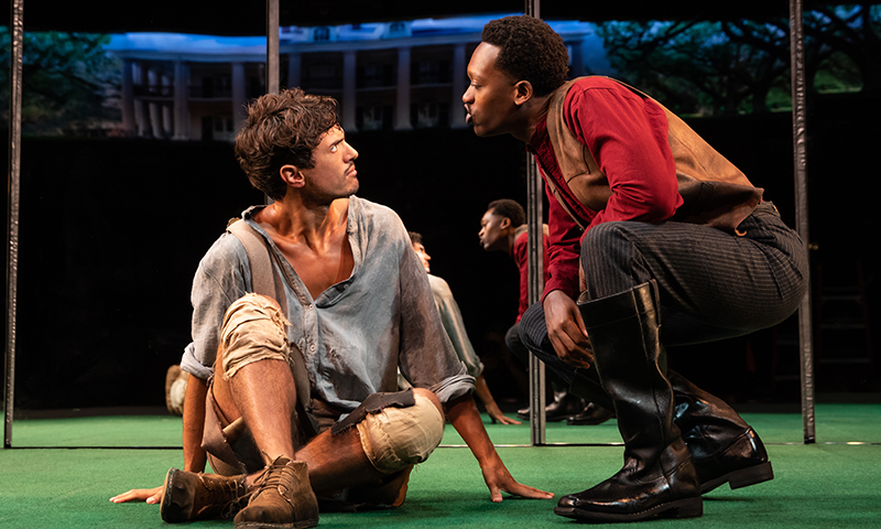 James Cusati-Moyer and Ato Blankson-Wood in <i>Slave Play</i>. Photo by Matthew Murphy.
