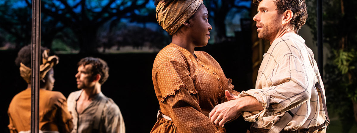 Joaquina Kalukango and Paul Alexander Nolan in Slave Play. Photo by Matthew Murphy.