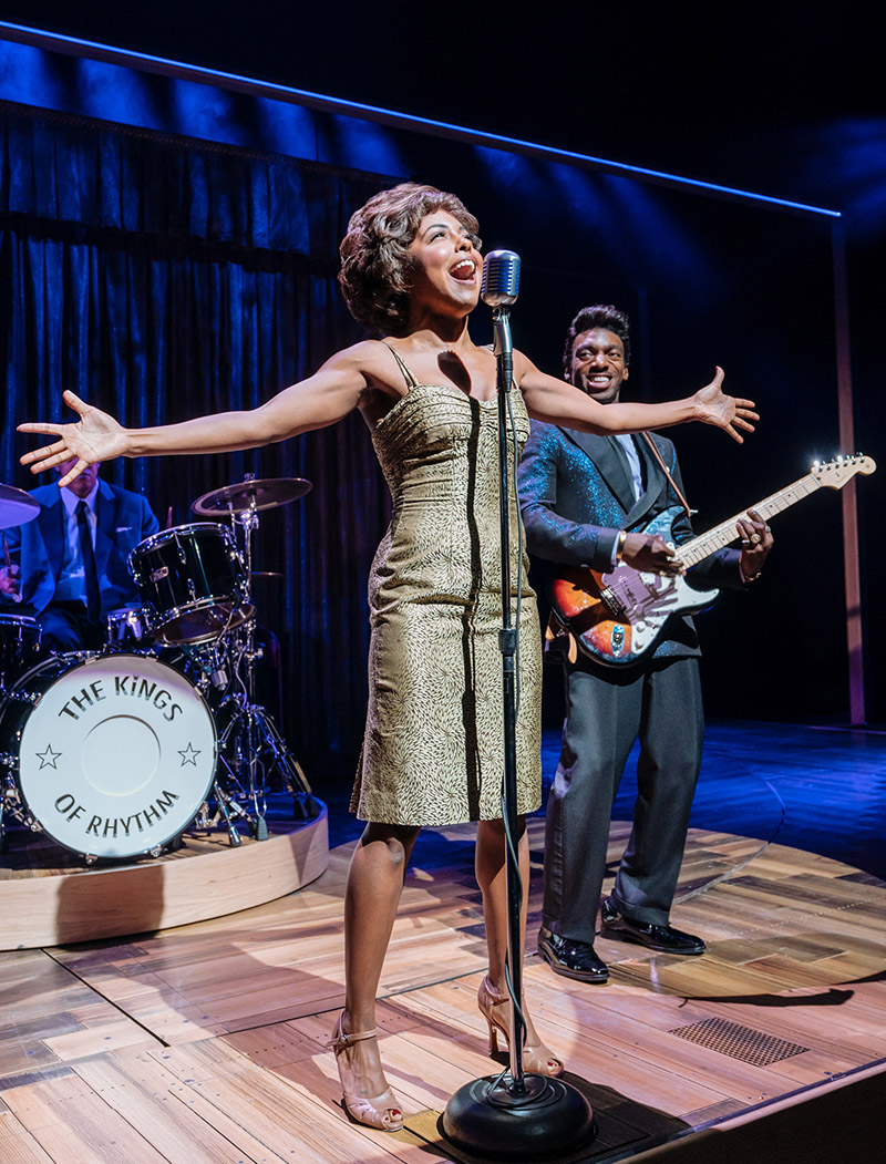 Adrienne Warren and Daniel J. Watts in <i>Tina - The Tina Turner Musical</i>. Photo by Manuel Harlan.