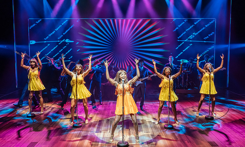 Adrienne Warren and the cast of <i>Tina - The Tina Turner Musical</i>. Photo by Manuel Harlan.