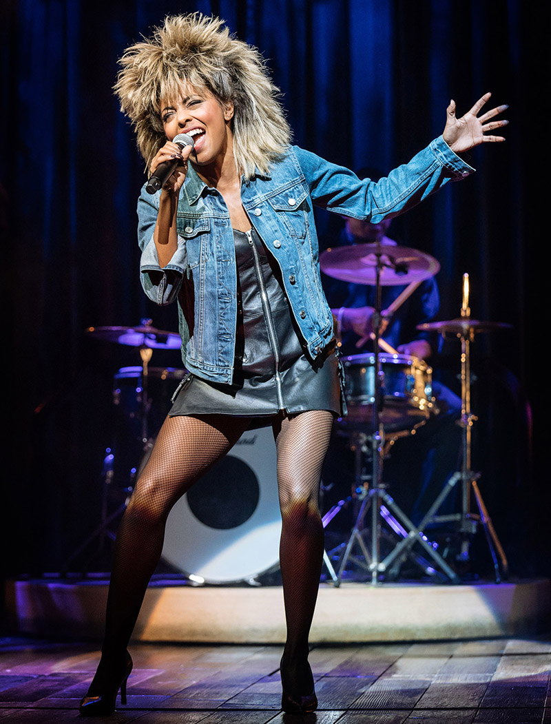 Adrienne Warren in <i>Tina - The Tina Turner Musical</i>. Photo by Manuel Harlan.