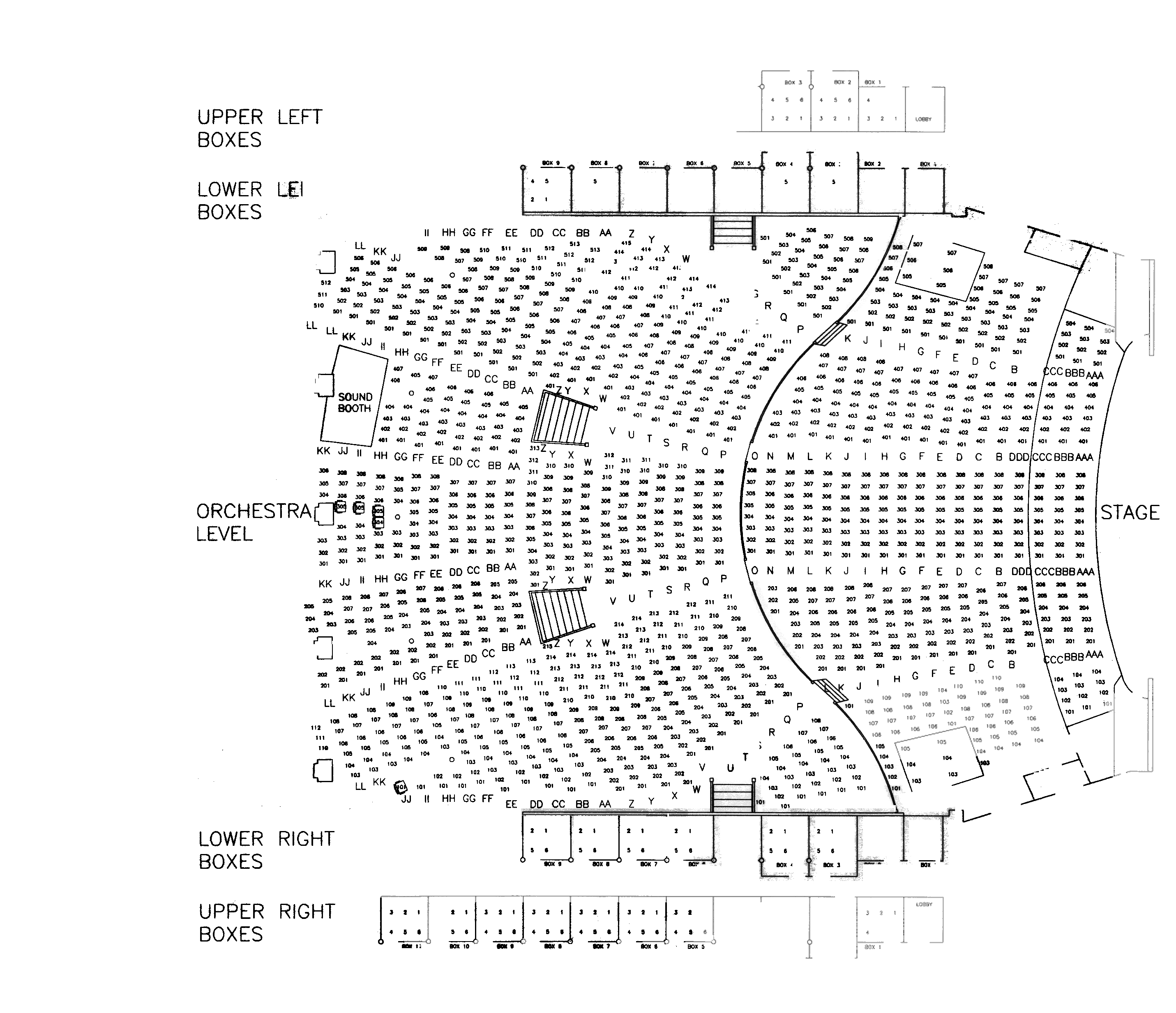 auditorium seating chart