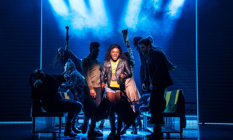 Celia Rose Gooding and the cast of <i>Jagged Little Pill</i>. Photo by Matthew Murphy.