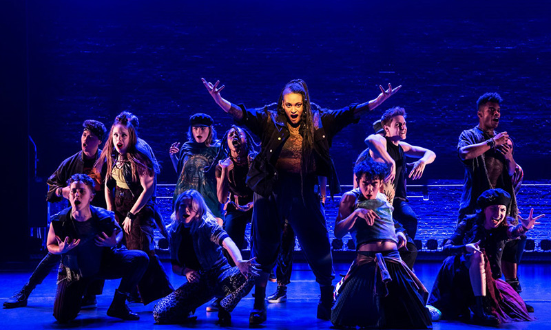 Nora Schell and the cast of <i>Jagged Little Pill</i>. Photo by Matthew Murphy.