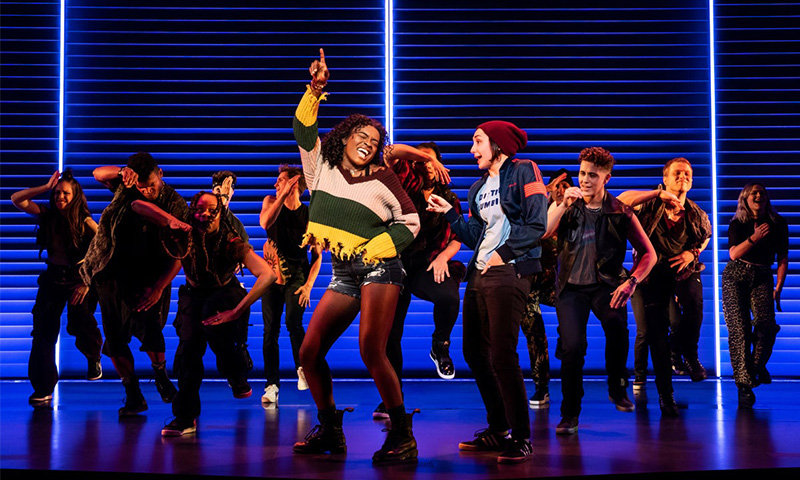 Celia Rose Gooding, Lauren Patten, and the company of <i>Jagged Little Pill</i>. Photo by Matthew Murphy.