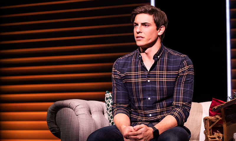 Derek Klena in <i>Jagged Little Pill</i>. Photo by Matthew Murphy.