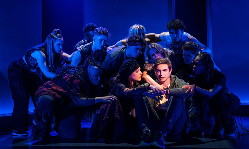 Derek Klena and the cast of <i>Jagged Little Pill</i>. Photo by Matthew Murphy.
