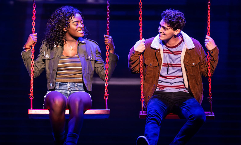 Celia Rose Gooding and Antonio Cipriano in <i>Jagged Little Pill</i>. Photo by Matthew Murphy.