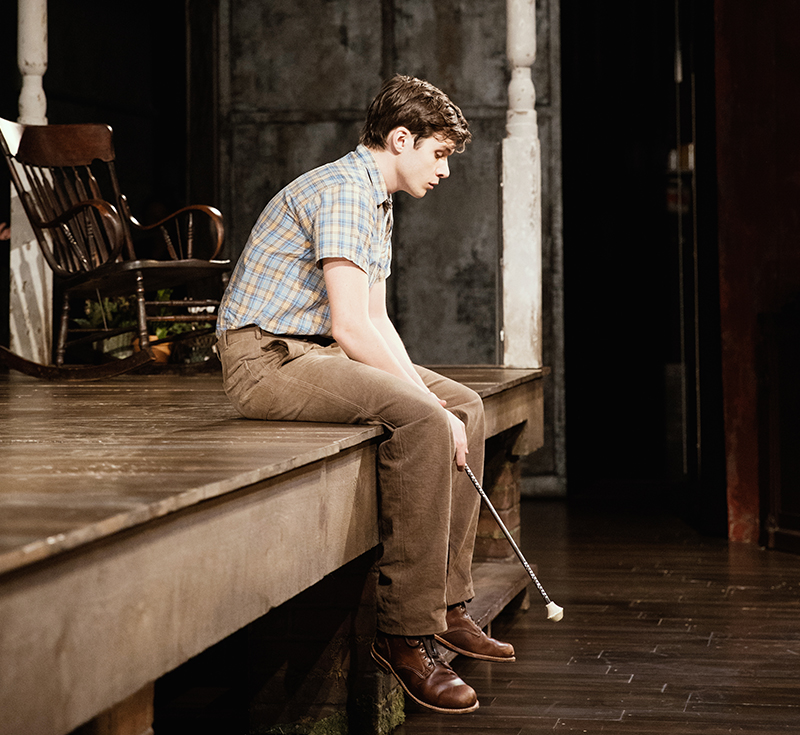 Nick Robinson in <i>To Kill a Mockingbird</i>. Photo by Julieta Cervantes.