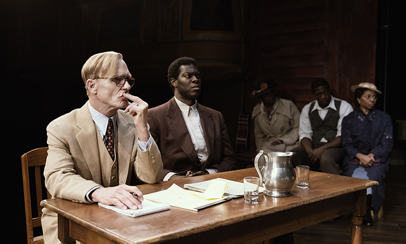 Ed Harris and Kyle Scatliffe in <i>To Kill a Mockingbird<i/>. Photo by Julieta Cervantes.