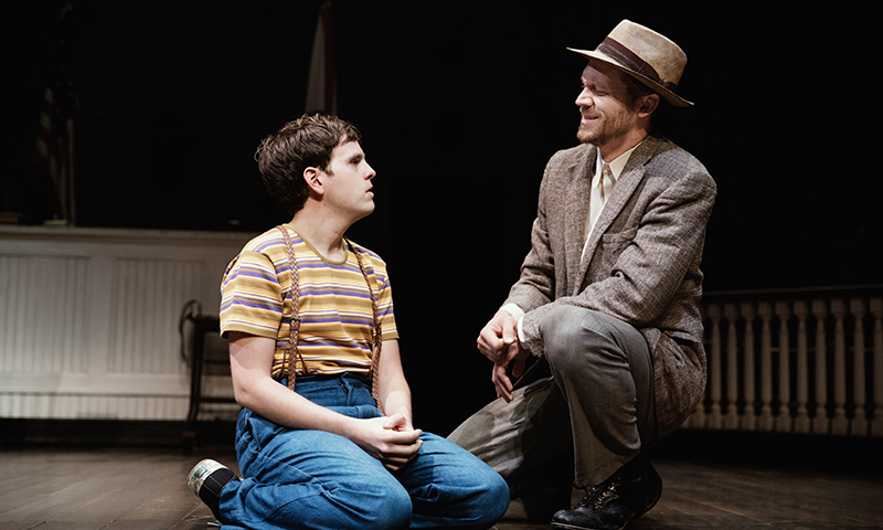 Taylor Trensch and Russell Harvard in <i>To Kill a Mockingbird</i>. Photo by Julieta Cervantes.