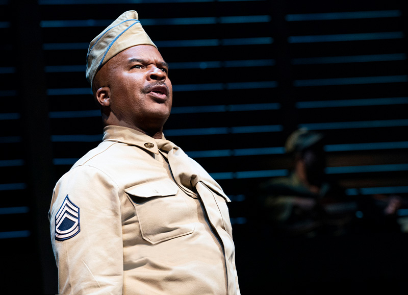 David Alan Grier in <i>A Soldier's Play</i>. Photo by Joan Marcus.