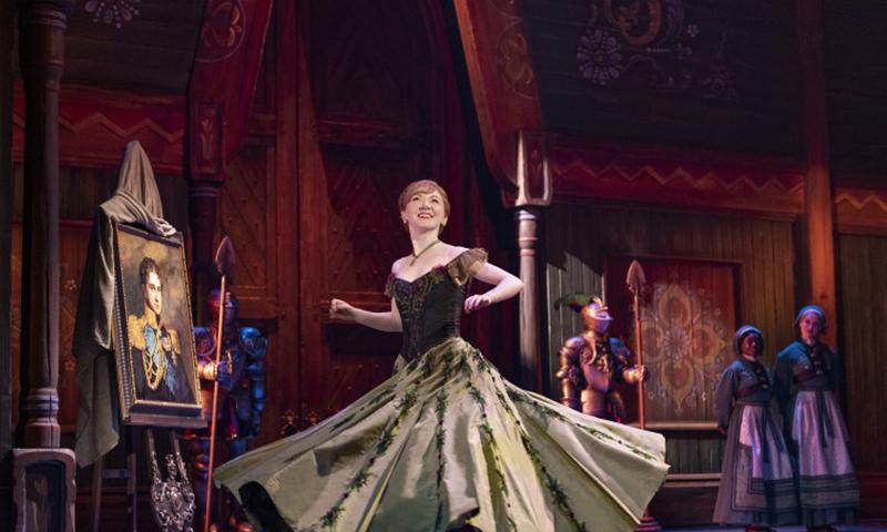 Caroline Innerbichler in the national tour of <i>Frozen</i>. Photo by Deen van Meer.