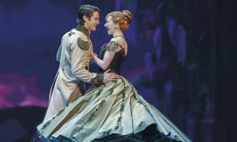 Austin Colby and Caroline Innerbichler in the national tour of <i>Frozen</i>. Photo by Deen van Meer.