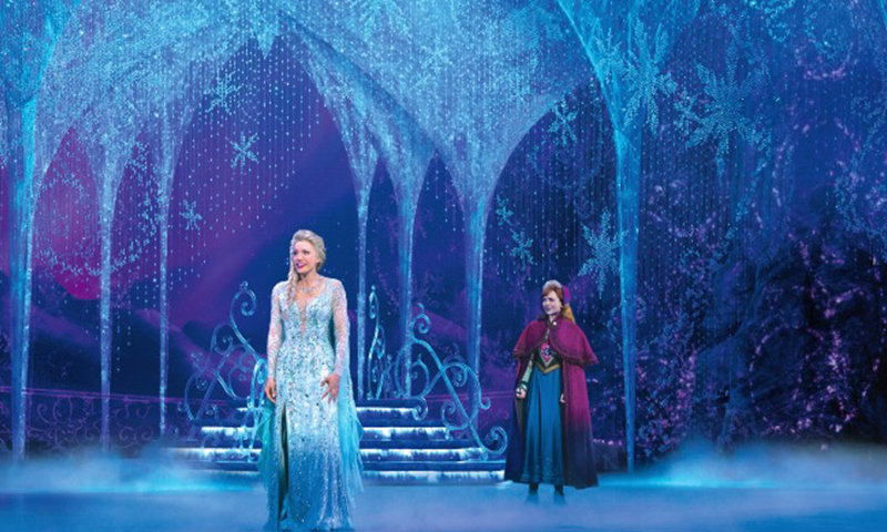 Caroline Bowman and Caroline Innerbichler in the national tour of <i>Frozen</i>. Photo by Deen van Meer.