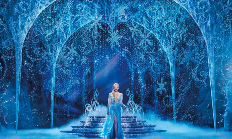 Caroline Bowman in the national tour of <i>Frozen</i>. Photo by Deen van Meer.