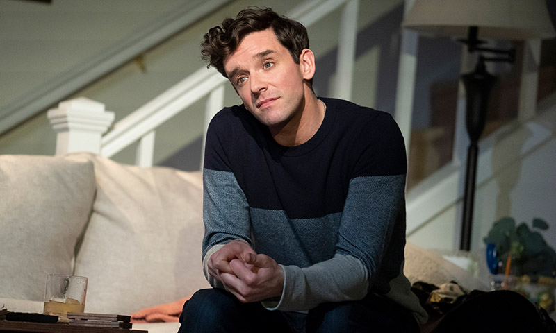 Michael Urie in <i>Grand Horizons</i>. Photo by Joan Marcus.