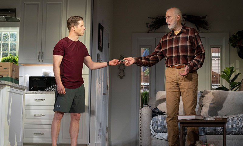 Ben McKenzie and James Cromwell in <i>Grand Horizons</i>. Photo by Joan Marcus.