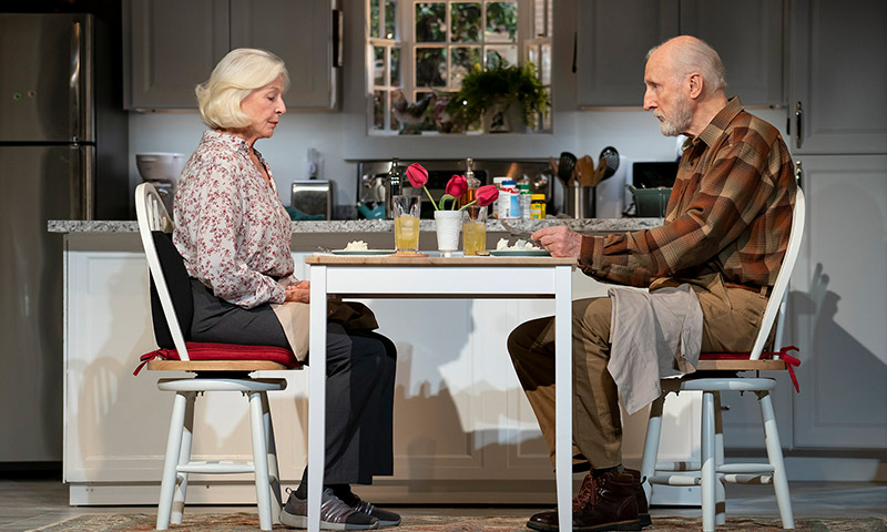 Jane Alexander and James Cromwell in <i>Grand Horizons</i>. Photo by Joan Marcus.