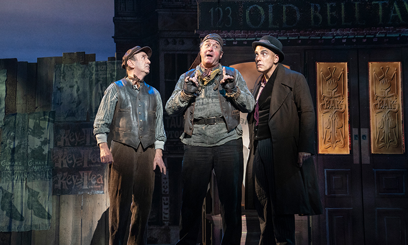 Patrick Kerr, Adam Grupper, and William Michals in the national tour of <i>My Fair Lady</i>. Photo by Joan Marcus.