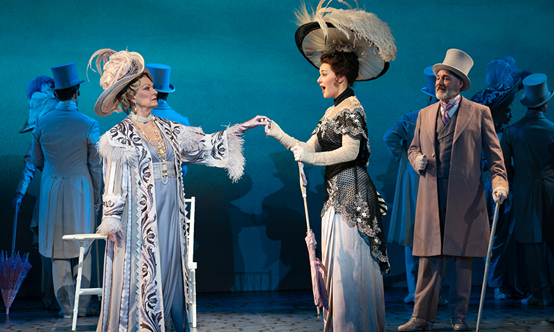 Leslie Alexander, Shereen Ahmed, and Kevin Pariseau in the national tour of <i>My Fair Lady</i>. Photo by Joan Marcus.