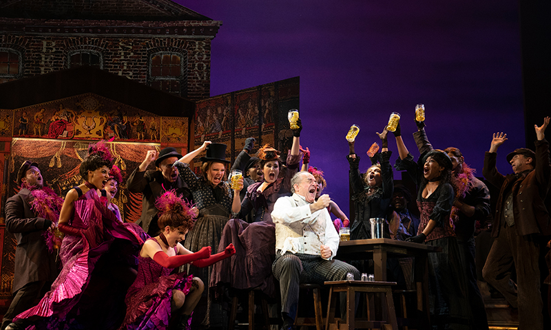 Adam Grupper and the cast of the national tour of <i>My Fair Lady</i>. Photo by Joan Marcus.
